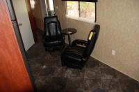 Bumper Pull Black Leather Chairs And Table
